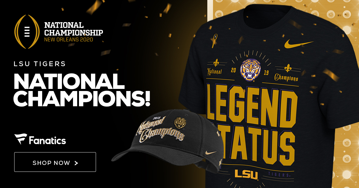 Shop for LSU Tigers Champs Gear