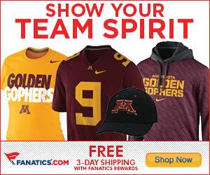 Shop for Minnesota Golden Gophers Gear at Fanatics!