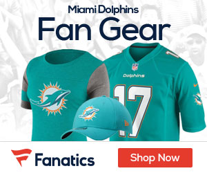 Shop the newest Miami Dolphins fan gear at Fanatics!
