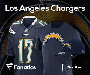 Shop the newest Los Angeles Chargers fan gear at Fanatics!