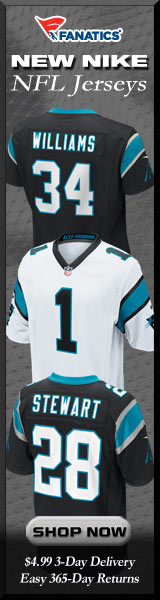 Shop Carolina Panthers new NFL Nike Jerseys at Fanatics!