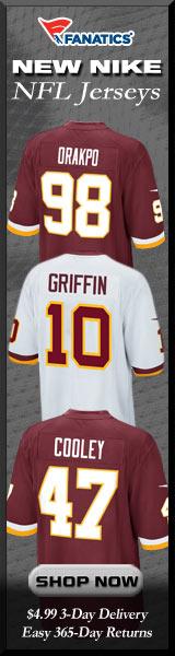 Shop Washington Redskins new NFL Nike Jerseys at Fanatics!
