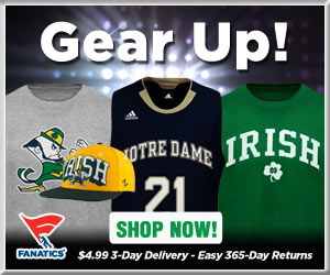 Shop Notre Dame Fighting Irish basketball gear at Fanatics!