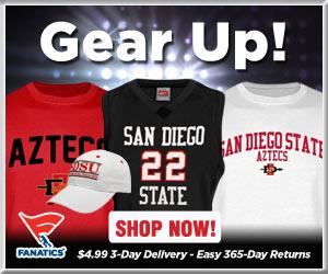 Shop San Diego State Aztecs basketball gear at Fanatics!