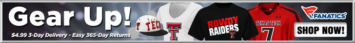 Shop for Texas Tech Red Raiders Gear at Fanatics