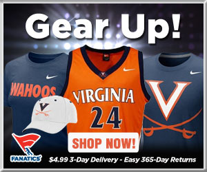 Shop Virginia Cavaliers basketball gear at Fanatics!