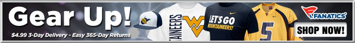 Shop for West Virginia Mountaineers Gear!