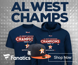 Houston Astros AL West Champs Gear