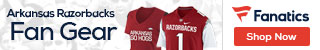 Arkansas Razorbacks gear at Fanatics.com