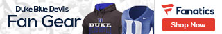 Duke Blue Devils gear at Fanatics.com