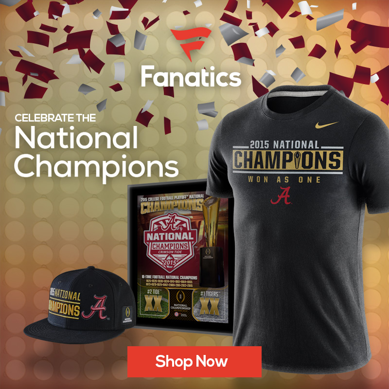 Alabama Crimson Tide National Championship Gear