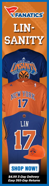 Linsanity is running WILD - get your Jeremy Lin t-shirts and merchandise at Fanatics