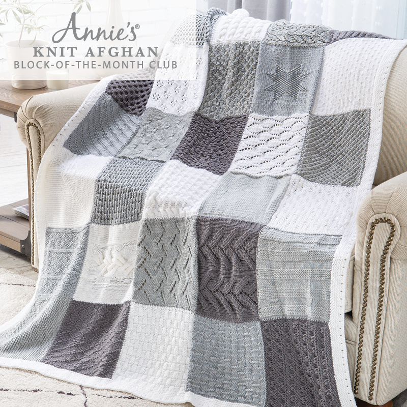 Annie's Knit Afghan Block of the Month Club