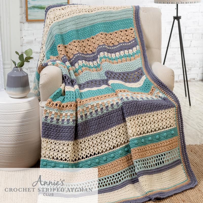 Annie's Crochet Striped Afghan Club