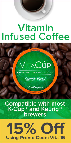 Save 15% off any order of VitaCup Vitamin Infused Coffee with code VITA15 through 5/12/17