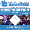 Free Shipping on Claire Burke @ GivingGallery.com