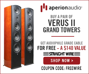 Get free speaker wire with purchse of Verus II Grand Towers