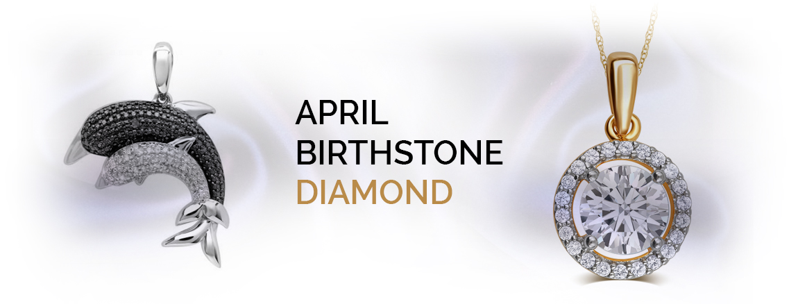 Black and white diamonds for april