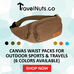 Canvas Waist Packs For Outdoor Sports & Travels (6 Colors Available) - Travel Nuts