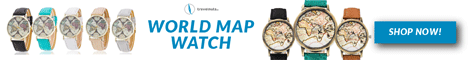 World Map Watch - Travel Nuts