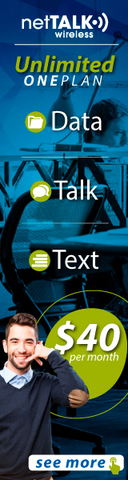 netTALK Wireless Unlimited One Plan $40 per month Data, Talk, Text! See More!