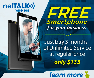 Free Smartphone for your Business when you buy 3 months of service for $135, Learn More!