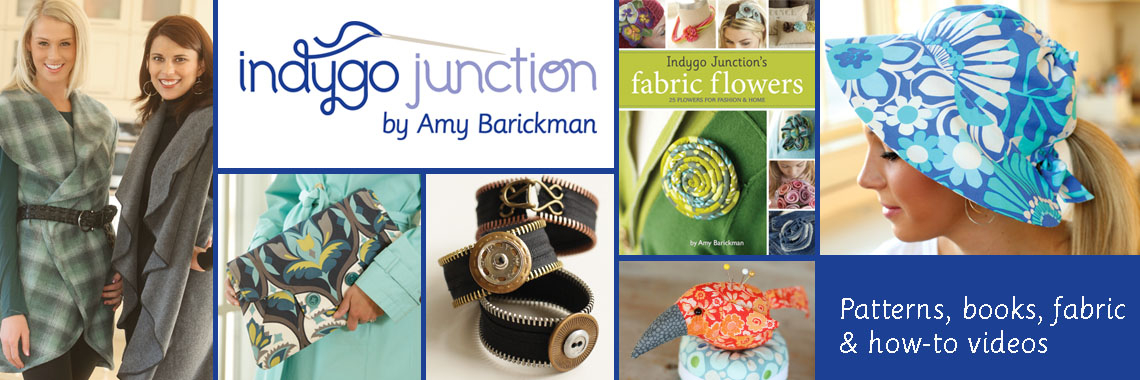 Indygo Junction Patterns, books, fabric & how-to videos