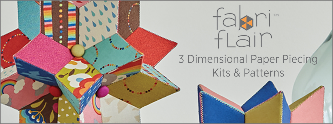 Fabriflair 3D Paper Piecing Kits, Patterns and Projects