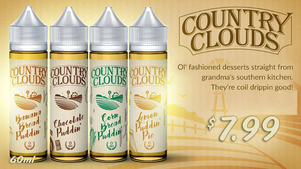 COUNTRY CLOUDS EJUICE 7.99