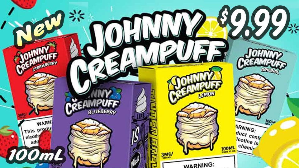 JOHNNY CREAMPUFF VAPE JUICE $9.99