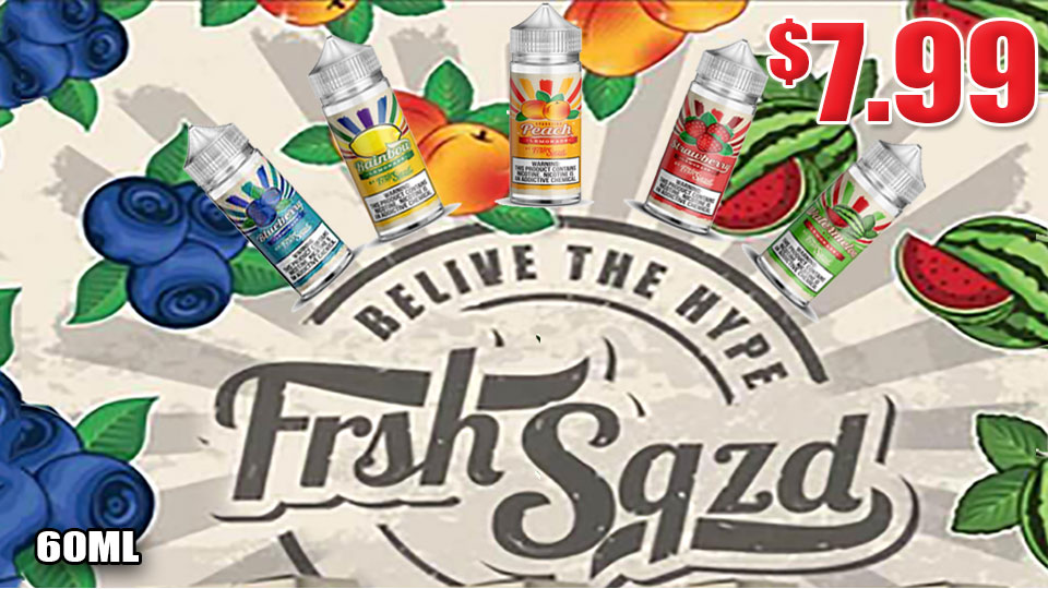 FRSHSQZD 100ML E-LIQUID 7.99