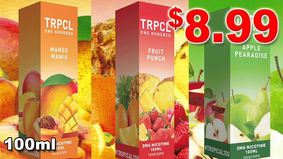 TROPICAL 100 VQPE JUICE $8.99 100ML