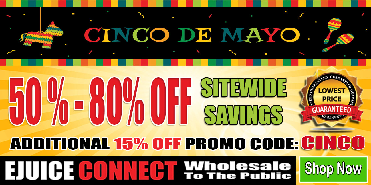 15% Off Site-wide Cinco De Mayo Ejuice Connect