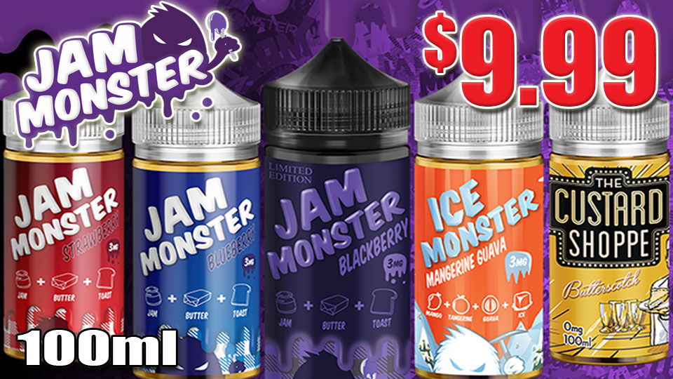 JAM MONSTER 100ML VAPE JUICE $9.99