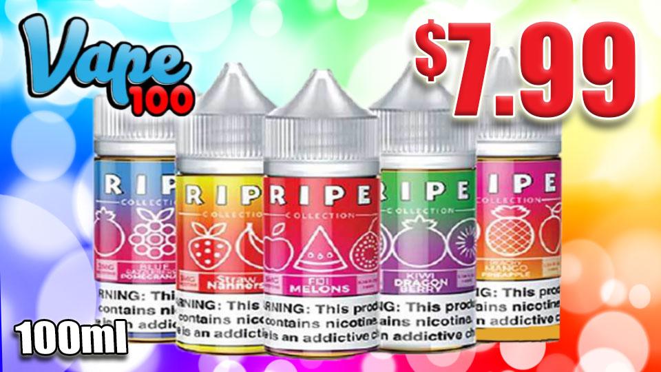Vape 100 Ripe Collection E-Juice 9.99