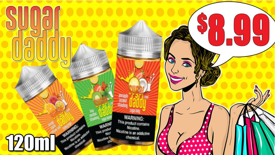 Sugar Daddy E-Liquid 120ml $7.99