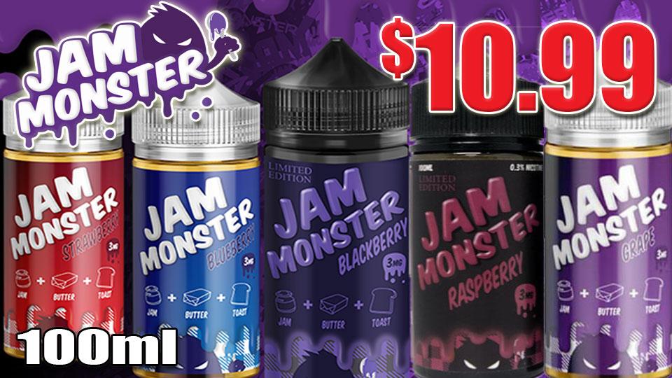 RASPBERRY JAM MONSTER 100ML E-LIQUID $9.99