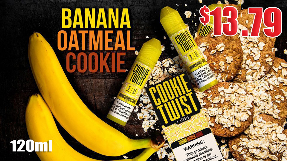 Banana Oatmeal Cookie Twist E-Liquid only $12.79