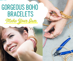 Make these Gorgeous Boho Bracelets DIY by Pop Shop America