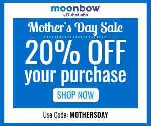 Moonbow MothersDay 300x250 - 20% Off for Mother's Day