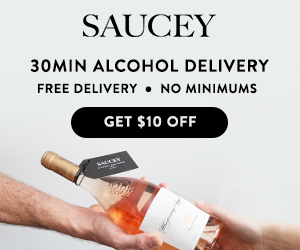 $10 Off 30min Alcohol Delivery from Saucey