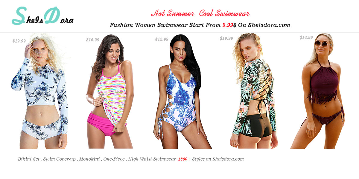 Bikini Set , Swim Cover-up , Monokini , One-Piece , High Waist Swimwear  1800+ Fashion Women Swimwear Styles on Sheisdora.com