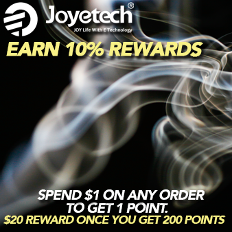 Visit https://www.joyetech.us/rewardpoints-policy for details