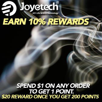 Visit https://www.joyetech.us/rewardpoints-policy for details
