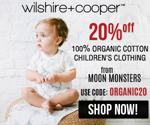 Shop Organic and Save!  20% off Moon Monsters kids clothing at WilshireandCooper.com - Use code ORGANIC20 *Limited Time Offer*