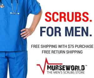 Scrubs for men. Free shipping on orders over $75 and free return shipping. Murse World