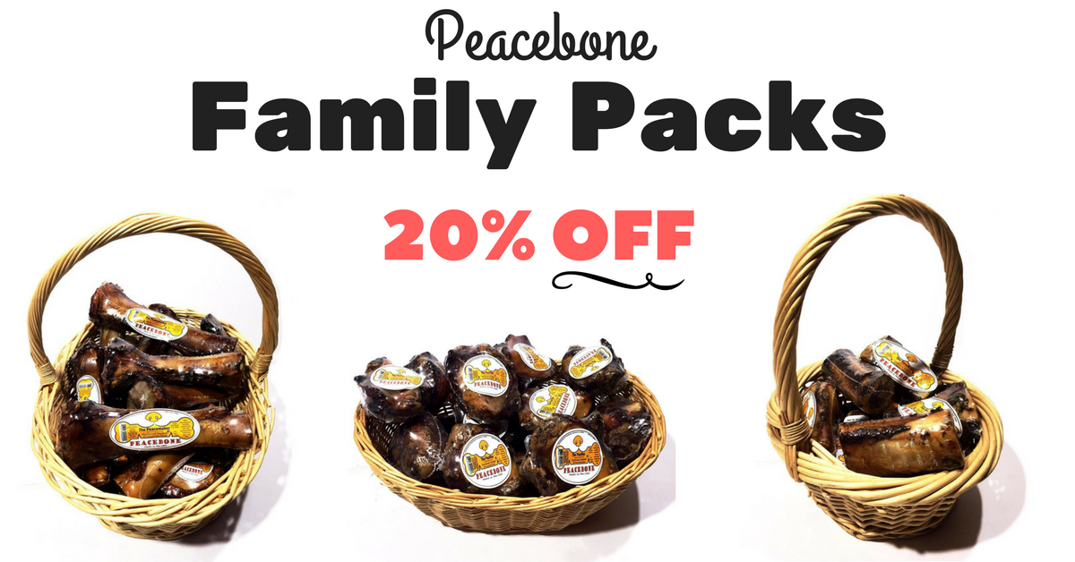 All Natural Dog Bone Family Packs | Peacebonepet.com