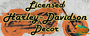 Officially Licensed Harley Davidson Decor from Retro Planet