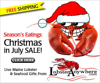 Christmas in July - Lobster Anywhere Deal - Free Shipping - Free Lobster Bisque + Save $7.77 - Get Coupon Code