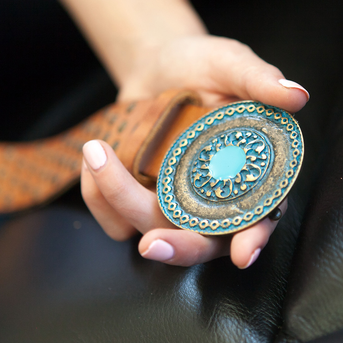 Persian Medallion Belt Buckle